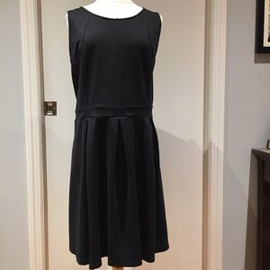 3X Cynthia Rowley pleated black dress